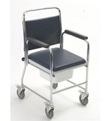 Picture of Mobile Commode Chair (square bowl)