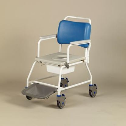 """Picture of Atlantic Wave Commode Chair - 22"""" (with Footrests)"""