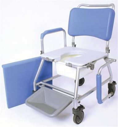 """Picture of Atlantic Wave Commode Chair - 18"""" (with Footrests)"""