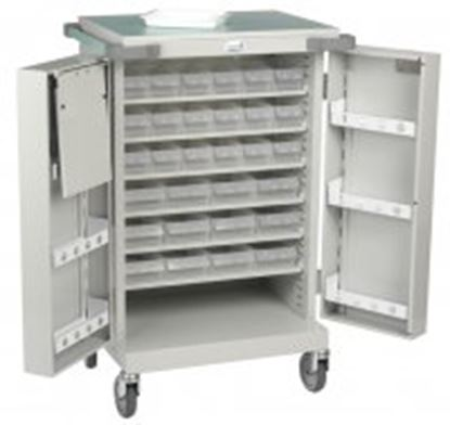 Picture of Unit Dosage Trolley, 18 A/ 12 C Trays, Double Door