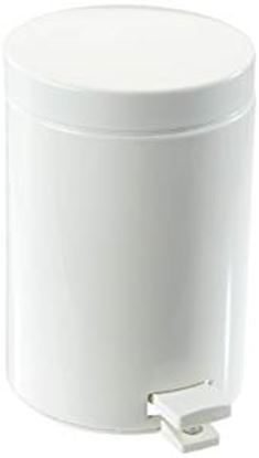 Picture of White Pedal Bin - 3 Ltr