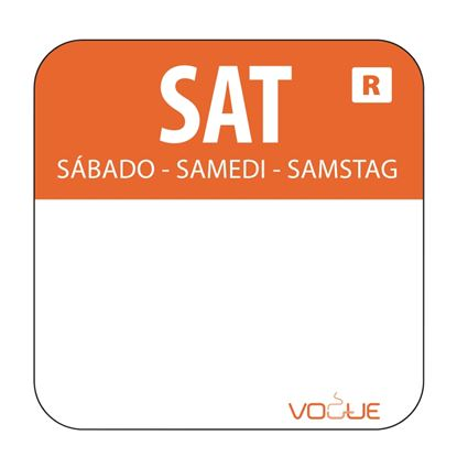 Picture of Colour coded food labels - Saturday (Orange) 1000