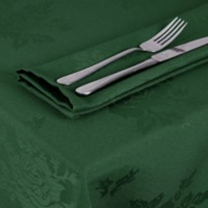 Picture of Woven Rose Napkin 22inx22in (55cmX55cm) - Forest Green