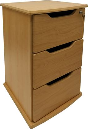 Picture of Contour Dementia Friendly 3 Drawer Bedside with Lock