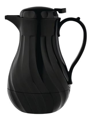 Picture of Olympia Insulated Swirl Jug Black 2Ltr