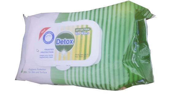 Picture of Detox Antibacterial Wipes PK80