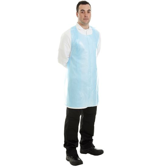 Picture of Blue Flat Packed Polythene Aprons(500)